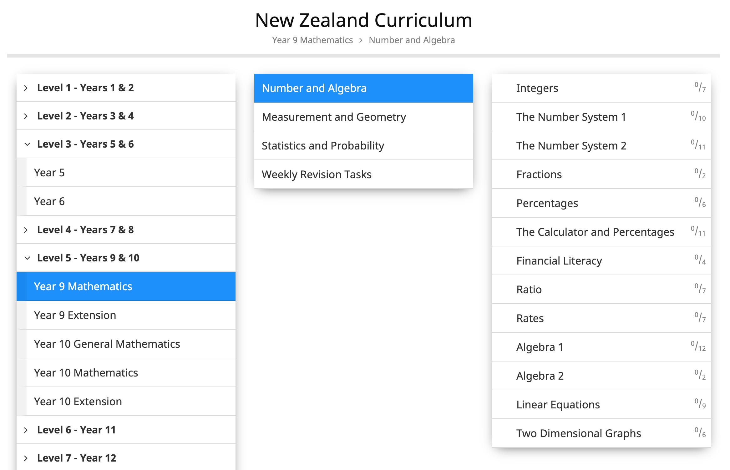 Return to default curriculum